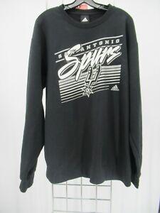 K0424 VTG Adidas Men's NBA San Antonio Spurs Sweatshirt Size XL