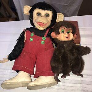 "Vintage Rushton Zippy Zip Chimp Monkey Howdy Doody Rubber Face 15"" Plush Stuffed"