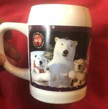 Vintage Coca Cola Mug 1995 Collectible 43 Polar Bear & Cubs White Coffee 26oz