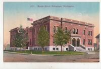 Bellingham Washington Roeder School USA Vintage Postcard US030