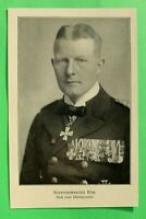 UM1) Marine Korvettenkapitän Kiep 1914-1918 Ordensspange Skagerrak u.a. 1.WK WWI