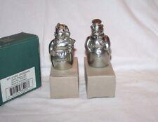 Lenox Kirk Steiff Pewter Mr & Mrs Santa Claus Salt & Pepper Shaker Set