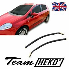 FIAT PUNTO GRANDE 2006-2018 SET OF FRONT WIND DEFLECTORS HEKO TINTED 2pc