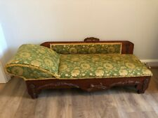 Antique child 00004000 's or doll's fainting couch chaise lounge