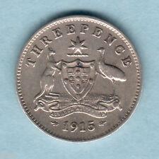 Australia. 1915 Threepence...  Trace Lustre  VF/gVF