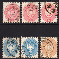 Austria 6 Stamps c1863-64 Used (some faults) (32)
