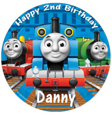 """Thomas The Tank Engine And Friends 7.5"""" Personalised Cake Topper Wafer Paper ."""