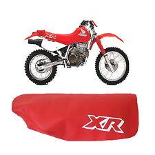 Honda XR600R XR 600 R 1989 Modelo de Motocicleta Asiento Funda en Rojo