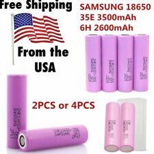 2/4PCS SAMSUNG 18650 35E 3500mAh/SAMSUNG 18650 26H 2600mAh Battery Li-Ion