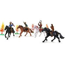 8pcs G Scale 1:25 Moldel Painted Figures Horses Western Vintage Cowboy Knight