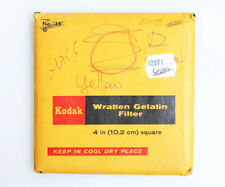 KODAK 4 INCH WRATTEN NO. 15 YELLOW GLASS FILTER