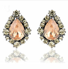Fashion Crystal Rhinestone Earrings Ear Clip Stud Dangle Drop Elegant Jewelry