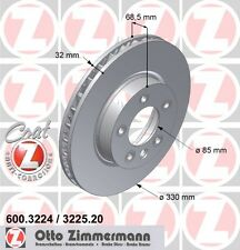ZIMMERMANN 600.3224.20 FRONT BRAKE DISCS PAIR (COAT Z)