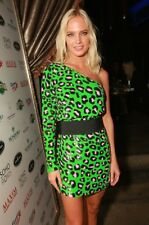 Ashish Sequined Asymmetric One-shoulder Leopard Neon Green Dress! RARE BEAUTY!!!