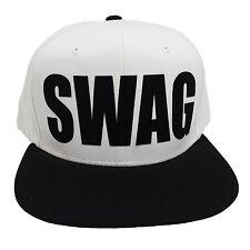 SWAG WHITE/BLACK (FLOCK BLACK) Snapback Cap