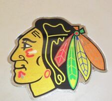 NHL CHICAGO BLACKHAWKS AUTO BADGE CAR DECAL EMBLEM 3X5 FREE SHIPPING