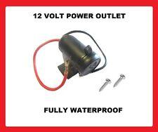 12 VOLT WATERPROOF Cigarette Lighter POWER Socket car van motorcycle bike 12v