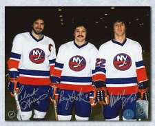 Bossy, Trottier & Gillies NY Islanders Triple Signed Trio Grande 16x20 Photo