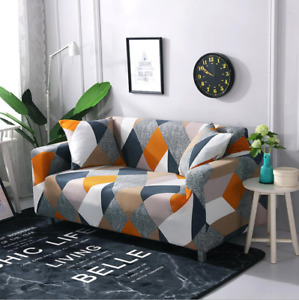 Slipcover Sofa Covers Printed Spandex Stretch Couch Cover Furniture Protector