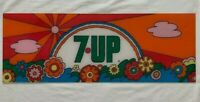 RARE 1960's Psychedelic 7-UP Soda Sign Collector's VTG Peter Max Style NO ROAD