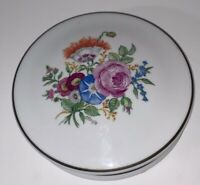 Limoges France Fine China Hand Painted Covered Pin Trinket Box Bowl Ceogle