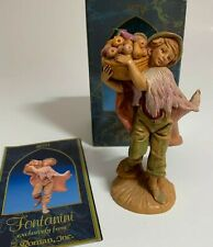 "Roman Fontanini Heirloom Nativity 5"" Collection Figurine Seth Fruit Basket 52597"