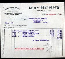 """ARQUES (62) PASSEMENTERIES & BRODERIES pour AMEUBLEMENT """"Léon BUSSY"""" en 1931"""