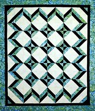 TROPICAL BLUES QUILTING PATTERN, From Cut Loose Press Patterns NEW