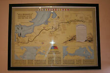 WW2 2nd Armored Division Campaign Map of Europe
