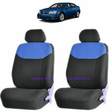 BLUE ELEGANT AIRBAG COMPATIBLE FRONT LOWBACK SEAT COVERS for DODGE RAM CHARGER