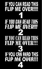 If You Can Read This Flip Me Over Decal (White) 2.5x9 inches Jeep Liberty