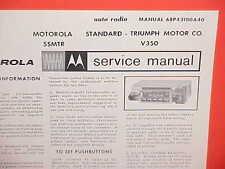 1965 TRIUMPH TR-4 TR4 HERALD 1200 SPITFIRE 4 MOTOROLA RADIO SERVICE SHOP MANUAL