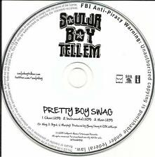 SOULJA BOY Pretty Boy Swag w/RARE INSTRUMENTAL &CLEAN VERSION PROMO DJ CD single