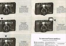 PUBLICITE  1979   CANON  appareil photo autofocus (2 pages)