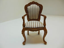 Dollhouse Miniatures Furniture 1/12: 13012wn Carved Upholstered Chair