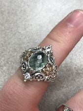 Barbara Bixby 18k & 925 Sterling Silver Ring With Gemstone Size 7