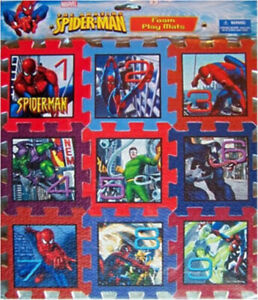 Marvel Ultimate Spiderman Soft Foam Mat Puzzle Factory Sealed 9 Pieces New