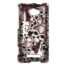 For HTC Windows 8X HARD Protector Case Snap On Phone Cover Black Skulls