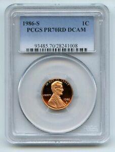 1986 S 1C Lincoln Cent Proof PCGS PR70DCAM