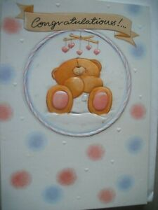 Congratulations a Special Welcome To Your Newborn (Bear) Forever Friends Card