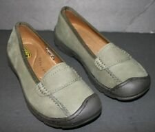 Pre-Owned Women's KEEN Green Sterling City Slip-On Loafers sz 6, UK 3.5, EUR 36