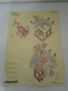 Playmobil Fachwerkhaus 3447 Rathaus Bauplan Beschreibung Ritterburg RAR SELTEN