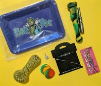 Pipe Tool Pickle Rick & Morty Rolling Tray TOBACCO Glass Bowl Pipe 14mm TITANIUM