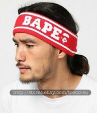 A Bathing Ape Bape Red Outdoor Sport Headband Hairband Scarf Elastic Tennis