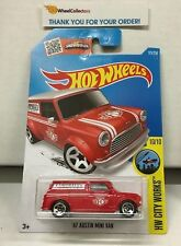 '67 Austin Mini Van #175 * RED * 2016 Hot Wheels * NC27