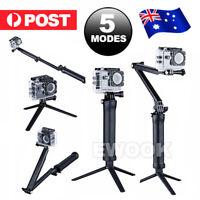 Adjustable 3Way Monopod Tripod Selfie Pole Stick Camera Mount For GoPro Hero 5 4
