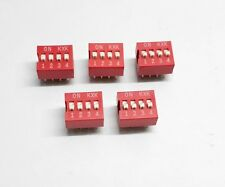 5 Pcs PCB Mount DIP Switch 4 Way SPST for Microcontroller Electronic Circuit