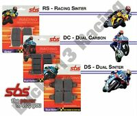 SBS Dual Carbon front brake pads Triumph Daytona 675 Speed Triple 1050 Thruxton