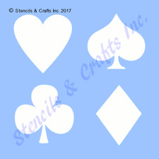 PLAYING CARDS MINI STENCIL SYMBOLS HEART CLUB SPADE DIAMOND TEMPLATE PAINT CRAFT