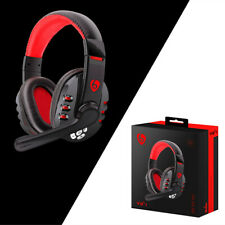 Wireless Gaming Headset with Mic Stereo Bass Surround For PC Laptop Computer Red